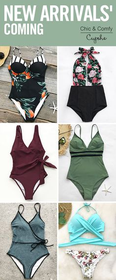 Calling all the trendsetting New Arrivals! With fabulous designs and better quality, these pretties gonna give you wonderful swimming experience~ Free shipping & Check more hot-sellers on Cupshe.com!