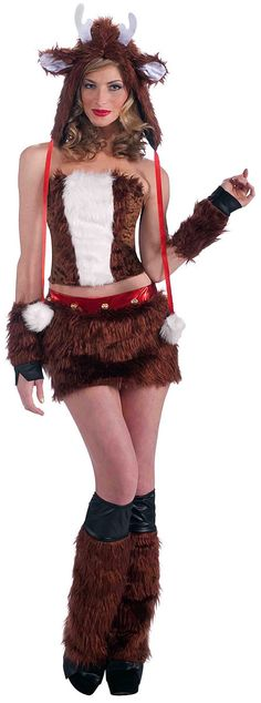 Sexy Reindeer Costume for Women Christmas Dress Up, Christmas Shows, Christmas Deer, Christmas Costumes, Ugly Christmas Sweater, Halloween Costumes, Christmas Stuff, Halloween Makeup, Reindeer Costume