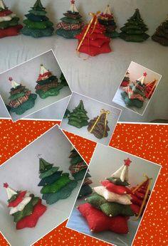 Arvores de Natal patchwork altura 27 cm por 78 de diâmetro de base