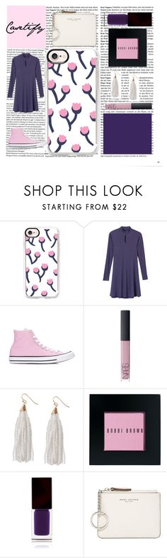 """""""The Flower Girl"""" by mackennan ❤ liked on Polyvore featuring Casetify, RVCA, Converse, NARS Cosmetics, Humble Chic, Bobbi Brown Cosmetics, Serge Lutens and Marc Jacobs"""