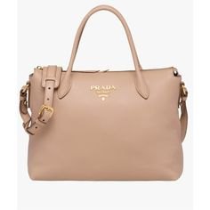 5a374b4fde6 Prada Calf Leather Bag ($1,790) ❤ liked on Polyvore featuring bags,  handbags,