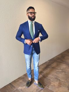 Royal blue Hopsack. Fabric by Ariston Napoli. @Design & Happiness BESPOKE