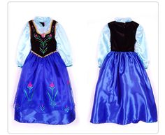 large stock Frozen Dresses Elsa and Anna princess dresses with cape is coming