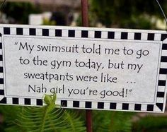 I have to stop listening to those darn sweatpants :-)