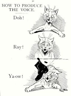 """How To Produce the Voice"" by Louis Wain"