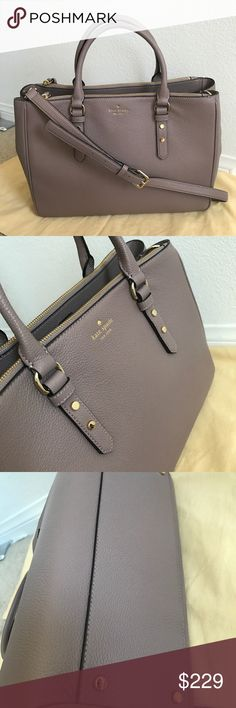 $430 Nwt Kate Spade Mulberry Street Leighann tote It is brand new with tag  Approx. dimensions: 14 in (L) x 10.5 in (H) x 6.25 in (W)  Dual leather handles with a drop of approx. 4.75 inches; Removable, adjustable shoulder strap with a maximum drop of approx. 17.25 inches  Interior features custom fabric lining, 2 slip pockets, and 1 zip pocket  Main compartment has open top with magnetic tab snap closure;   Top zip closure pockets in front and back kate spade Bags Totes