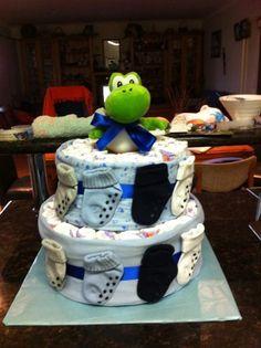 Drayke's nappy cake