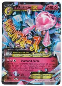 M Diancie EX XY44 – Jumbo Pokemon Mega Promo Ultra Rare Card