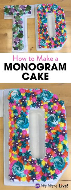 Watch how easy it is to make your own monogram cake with Wilton's Countless Celebrations Pan! Decorate your monogram cake with different flowers, rosettes, and stars to create a unique personalized cake for any occasion.