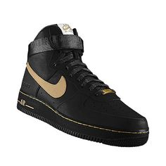 Gold   Black Air Force Ones Air Force One Shoes, Nike Air Force Ones, 94e6a7969593