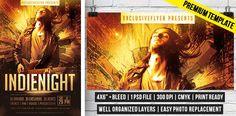 Indie Night – Premium Flyer Template http://www.exclusiveflyer.com/premium-templates/indie-night-premium-flyer-template/