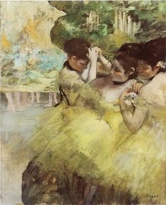 Dancers preparing for the ballet - Edgar Degas, c. 1872-76. The Art Institute of Chicago, Illinois #degas