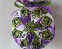 Spring Flowers Quilted Ornament