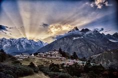 Sunset beams over Tengboche  Trip: Everest Panorama Trek [http://www.acethehimalaya.com/destinations/nepal/nepal-trekking/everest-panorama-trek.html]