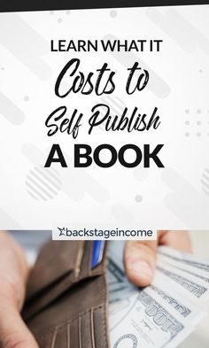 Learn how much it costs to self-publish a book! Writing Advice, Blog Writing, Creative Writing, Writing A Book, Amazon Publishing, Book Publishing Companies, Self Publishing, Sell Your Books, Psychology Books