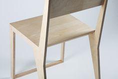 PUNAR plywood stool by Maxim Scherbakov