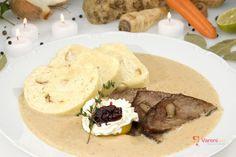 Výborná svíčková recept   Vaření.cz Some Recipe, Bread Dumplings, Dumpling Recipe, Czech Recipes, Ethnic Recipes, Polish Recipes, I Want To Eat, Beef Recipes, Kitchens