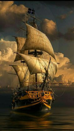 Pinned By 🌅 Amanecer 🌅 Pirate Ship Drawing, Arte Assassins Creed, Pirate Art, Pirate Ships, Pirate Crafts, Bateau Pirate, Old Sailing Ships, Ship Paintings, Boat Art