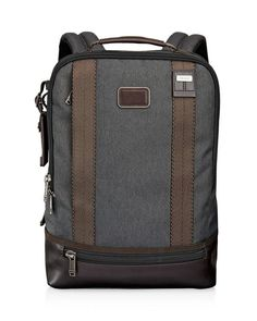 "Tumi Dover Backpack  | Nylon; trim: leather | Imported | 16"" x 11.5"" x 4.5""   