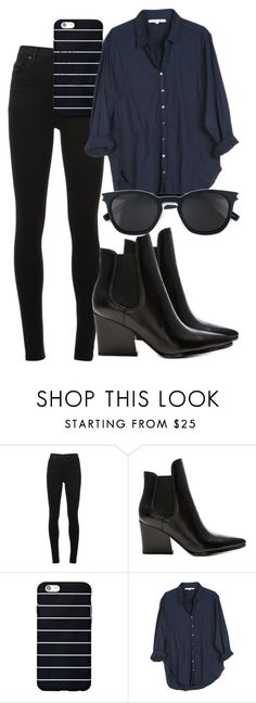 """Untitled #1802"" by mariandradde ❤ liked on Polyvore featuring Nobody Denim, Kendall + Kylie, Xirena, Yves Saint Laurent, YSL, saintlaurent, yvessaintlaurent, xirena and kendallkylie"