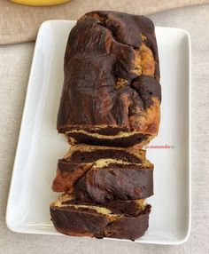 bananabread marbre Ww Desserts, Banana Bread, Steak, Gluten, Healthy, Food, Banana, Cooking Recipes, Light Recipes