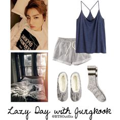 Lazy Day with Jungkook by btsoutfits on Polyvore featuring polyvore, fashion, style, H&M and clothing