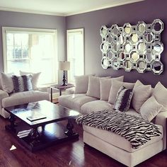 """#ZGallerieMoment: our Stella Sectional and Axis Floor Mirror layer @jennytaylorboudoirs' living room in luxury.  Shop our Stella Collection by clicking…"""