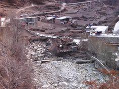 River running through the Village