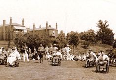 Wounded soldiers at The Brook Hospital abt 1918 Medical History, Local History, World History, Family History, World War, East London, Photographs, Photos, Wwi