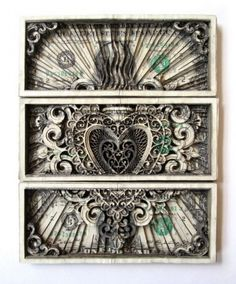 Tattoo artists and Artist Scott Campbell does some cool things on the skin and on the dollar bills we love so much