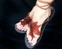 leaf sandals (@Logan Cook --these MUST be the ones, right??? click to see.)