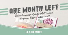 March is the last month that you can take advantage of this year's Sale-A-Bration offers - check out my blog at www.blog.thecraftyowl.co.uk for more information and to shop online!