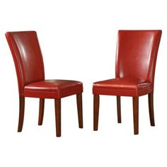 Elizabeth Parson Side Chair - Red (Set of 2)