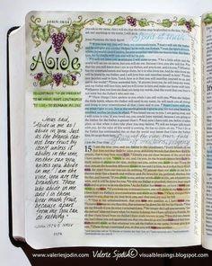 John 15 - Bible Journal idea