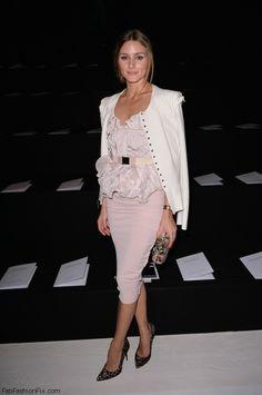Olivia Palermo at Nina Ricci ss 2014 fashion show