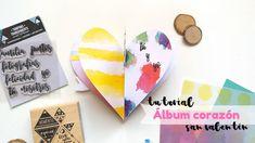 Tutorial mini álbum scrapbooking con forma de corazón para San Valentín ...