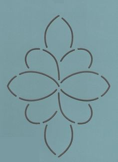 "Flower Medallion 5.5"" x 5.5"" - The Stencil Company"