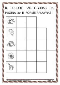 Alfabetização 28 palavras_parte II Education, Words, Sight Word Activities, Reading Projects, Abc Centers, Index Cards, Books, Autism, Educational Illustrations