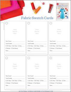 Free Oliver S Building Block Swatch Card Set Sewing Patterns Free, Free Sewing, Card Patterns, Sewing Room Organization, Organizing, Selling Handmade Items, Organize Fabric, Free Fabric Swatches, Card Tricks