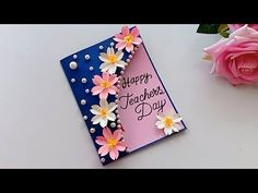 DIY Teacher's Day Pen gift card \\ How to make Teacher's day card Teachers Day Card Design, Teachers Day Greeting Card, Greeting Cards For Teachers, Greeting Card Video, Teachers Day Gifts, Presents For Teachers, Teacher Appreciation Cards, Teacher Cards, Appreciation Quotes