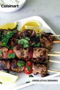 Be an indoor with these Greek-Style Skewers year-round. Our Griddler FIVE functions as a contact grill, panini press, full grill, full griddle and half grill/half griddle. Griddle Recipes, Chicken Skewers, Grill Master, Comfort Food, Greek Recipes, Grilling Recipes, Grill Panini, Entrees, Food To Make
