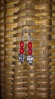 Faceless - Red - The profit from the sale of these earrings helps to rescue a victim of human trafficking AND money is contributed to eradicate poverty!