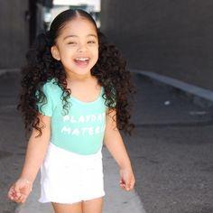 Little girl curly hair