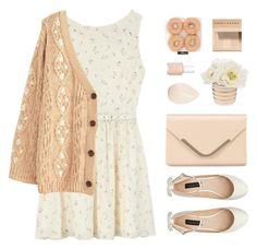"""Apricot Spring"" by sweetpastelady ❤ liked on Polyvore featuring Rachel Antonoff, Forever New, Accessorize, Essie, Bobbi Brown Cosmetics and Christian Dior"