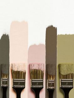More beautiful soft paint palettes love these olive green and blush tones