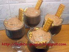 Greek Recipes, Chocolate Fondue, Mousse, Cooking Recipes, Pudding, Eggs, Sweets, Cookies, Cake