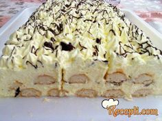 Recepti za top jela i poslastice: Vanil brza torta! Jednostavne Torte, Brze Torte, Serbian Recipes, Serbian Food, Torta Recipe, No Bake Cake, Sweet Recipes, Baking Recipes, Bakery