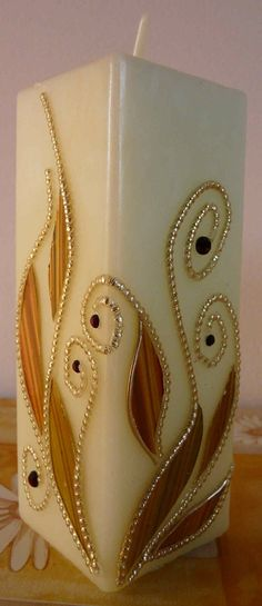 Fancy Candles, Diy Candles, Candle Art, Candle Magic, Diy Crafts Room Decor, Henna Candles, Christmas Crafts To Make, Polymer Clay Sculptures, Beautiful Candles