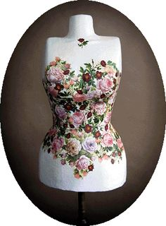 flower decoupage mannequin