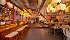 WDA designs izakaya and noodle retailer in mumbai with eclectic asian interiors - Women Portal Bao Restaurant, Japanese Restaurant Interior, Shopping In Mumbai, Ramen Shop, Asian Interior, Asian Restaurants, Indochine, Interior Architecture, Noodle